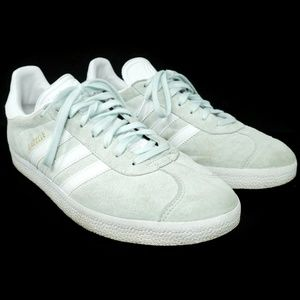 Adidas Womens Sneakers Size 9 White Green Suede